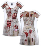 Zombie Bride Dress Costume Tee (Front/Back) Bluse