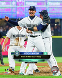 Hisashi Iwakuma Seattle Mariners 2015 Action Photo