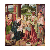 The Adoration of the Magi Giclée-Druck von Joos Van Cleve