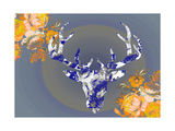 Cobalt Moose Photographic Print by Ricki Mountain