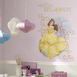Disney Princess Belle Peel And Stick Giant Wall Graphic Vinilo decorativo