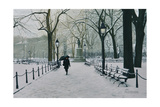 Washington Square Park in the Snow, 2014 Giclee Print by Max Ferguson