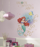 Disney Princess Ariel Sea Peel And Stick Giant Wall Graphic Wallstickers