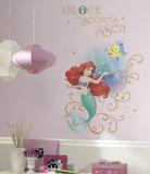 Disney Princess Ariel Sea Peel And Stick Giant Wall Graphic Vinilo decorativo