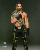 Seth Rollins with the WWE Championship Belt 2015 Photo