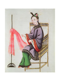 A Chinese Woman Making a Fishing Net, Qianlong Period (1736-96) Giclee Print by Leonetto Cappiello