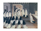 Administration of Holy Communion to a Nun, from 'L'Abbaye De Port-Royal', C.1710 Giclee Print by Louise Madelaine Cochin