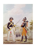 Police Officers of the Garde Des Consuls in Uniform Giclee Print by Karl Loeillot-Hartwig