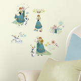 Disney Frozen Fever Peel And Stick Wall Decals Wallstickers