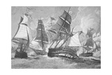 Battle of Chesapeake Bay Giclee Print by Julian Oliver Davidson