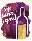 Watercolor Wine II Poster by Pela Studio