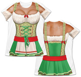 Womans Oktoberfest Costume Tee (Front/Back) Skjorte