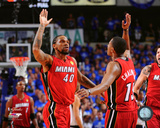 Udonis Haslem & Mario Chalmers Game 4 of the 2011 NBA Finals Photo