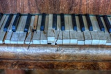 Old Broken Piano Photographic Print by Nathan Wright