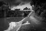 Canal Side Path and Lock Photographic Print by Gary Turner