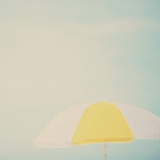 Beach Sunshade Photographic Print by Laura Evans