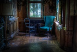 Old Chairs in Room Photographic Print by Nathan Wright