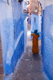 Figure in Narrow Passageway in Morocco Photographic Print by Steven Boone