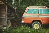 Old Truck by Shed Photographic Print by Kimberley Ross