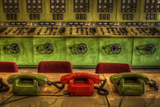 Old Telephones in Control Room Photographic Print by Nathan Wright