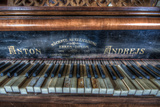 An Old Piano Photographic Print by Nathan Wright
