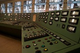 Controls in a Power Station Photographic Print by Nathan Wright