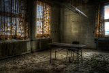 Derelict Interior with Chair and Desk Photographic Print by Nathan Wright