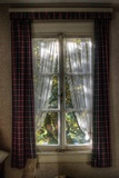 Old Window with Tartan Curtain Photographic Print by Nathan Wright