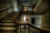 Old Stairway in Abandoned Building Photographic Print by Nathan Wright