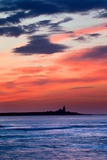 Coquet Island Red Sky Photographic Print by Mark Sunderland
