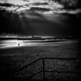 Beach Scene in England with Pier Photographic Print by Rory Garforth