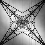 Abstract Geometric View of Pylon Photographic Print by Gary Turner