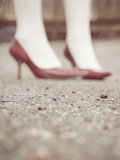 Blurred Image of Ladies Shoes Metal Print by Jillian Melnyk