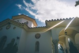 White Church in Greece Photographic Print by Clive Nolan