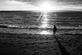 Young Child Alone on Beach Photographic Print by Sharon Wish