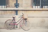 Bike Parked in Street Photographic Print by Laura Evans
