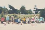 Beach Huts in England Photographic Print by Laura Evans
