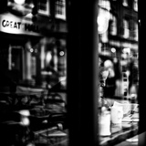 Elderly Male Sitting Alone in a Cafe Reproduction photographique par Rory Garforth