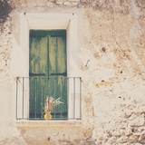 French Balcony with Shutters in Summer Fotodruck von Laura Evans