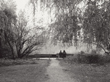 Two People on a Park Bench Photographic Print by Sharon Wish