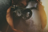 Pocket Watch with Heart Photographic Print by Carolina Hernandez