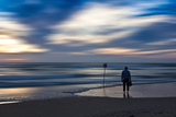 Coastal Scene with Man Photographic Print by Josh Adamski