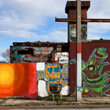 Graffiti on Wall Photographic Print by Bernardo Bonnefon
