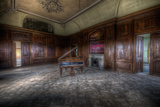 Abandoned Building Interior with Decorative Panelling and Old Grand Piano Photographic Print by Nathan Wright