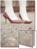 Blurred Image of Ladies Shoes Prints by Jillian Melnyk