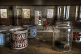 Old Mugs in Abandoned Interior Photographic Print by Nathan Wright