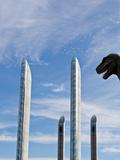 Bernardo Bonnefon - Dinasaur in Urban Landscape - Fotografik Baskı