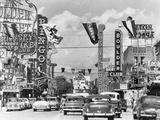 Various Casino Signs along Las Vegas Street Metal Print