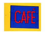 Cafe Sign, 1968 Metal Print by Patrick Caulfield
