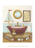 Nautical Bath I Print by Wendy Russell